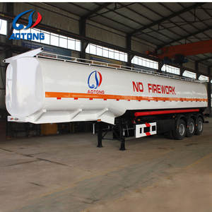 China 3 axles 50000 liters oil fuel and gasoline transport tank semi trailer of truck chassis manufacturer on sale