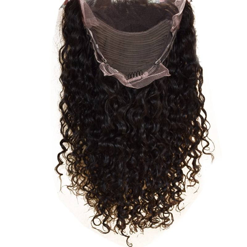 9A High Quality Front Lace wig For Women Brazilian Virgin Human hair extension Deep wave