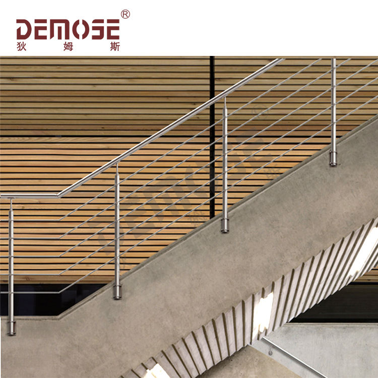commercial steel pipe stair handrail