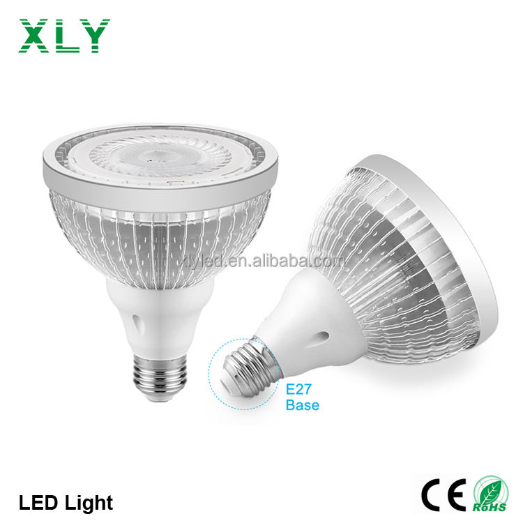Par20 Par30 Par38 35度E27 Base Alumminum Heat Sink 82Ra COB PMMA Lens Indoor Ceiling Lights Led Spot Bulb Light 10W 12W 15W