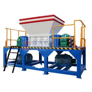 Factory supplied wholesale price automatic waste recycle shredding machine tire shredder
