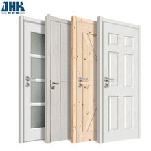 JHK-Solid wood door design white primed veneer wood home interior door from China Suppliers