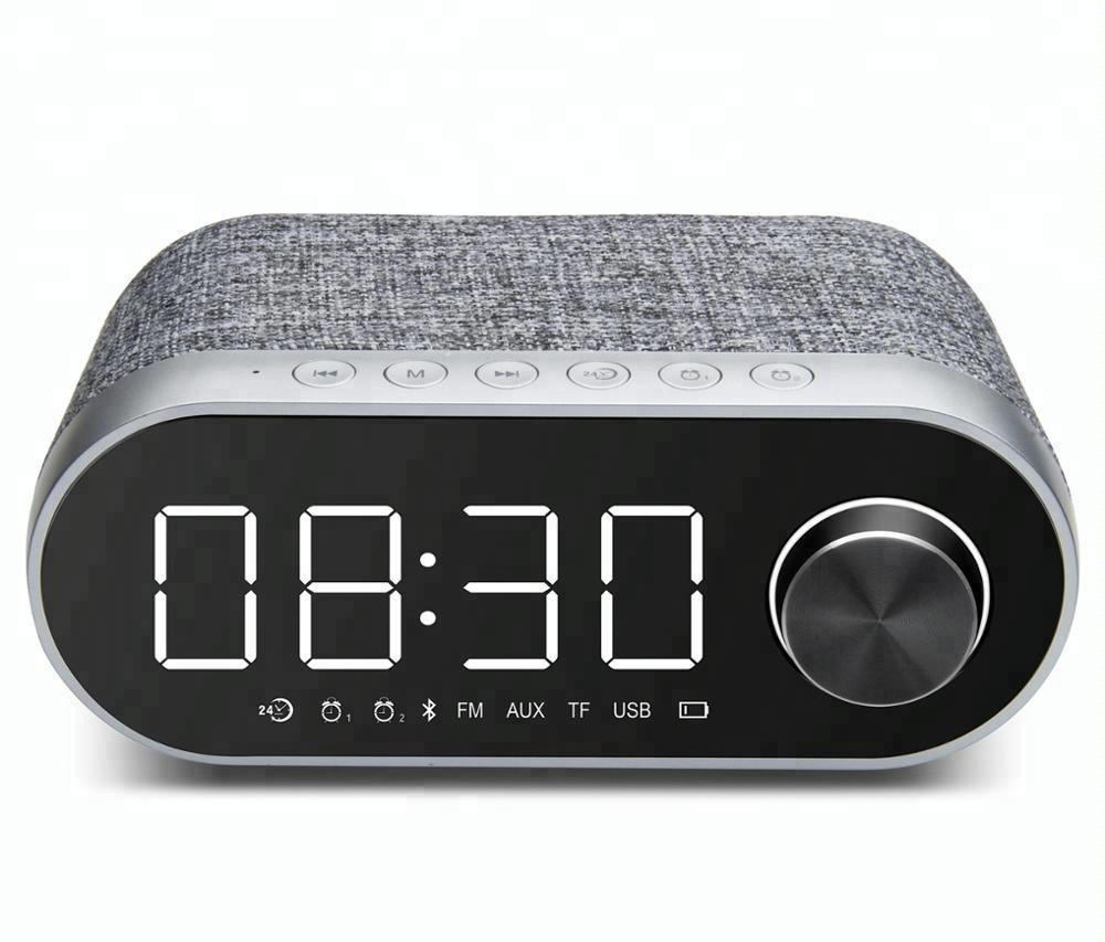 Morden Radio Wireless Speaker Alarm LED Clock