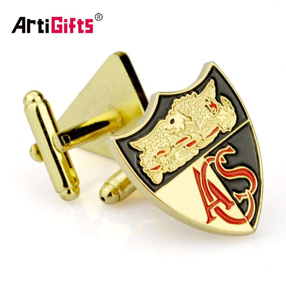 Artigifts Promotion Gifts Men Metal Make Custom Logo Enamel Cufflinks
