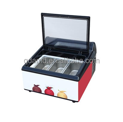 Tavolo top ice cream display freezer per buffet