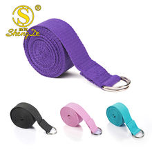 Yoga strap with Durable D-Ring for Pilates & Gym Workouts accept woven logo custom