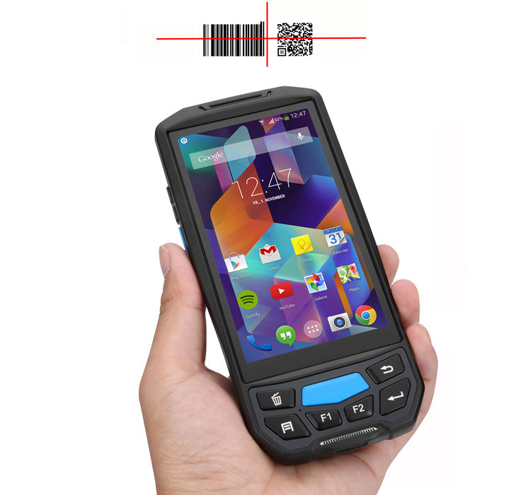 Android gprs UHF rfid handheld card reader barcode scanner with nfc/ Wifi /wireless/ Camera /IP67 PDA qr bar code scanner PDAs