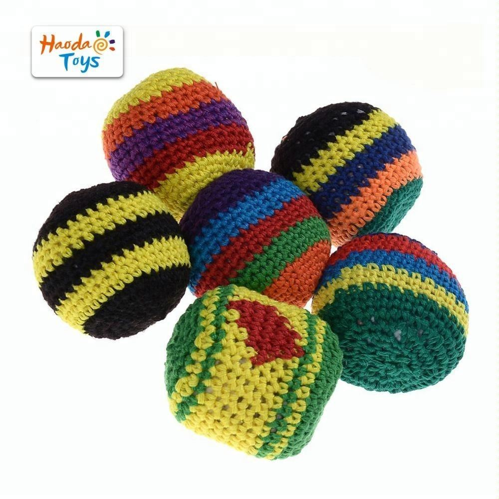Classic Toy Hackey Sacks Knitted Kick Balls