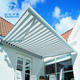 Outdoor waterproof retractable motorized sunshade terrace awning