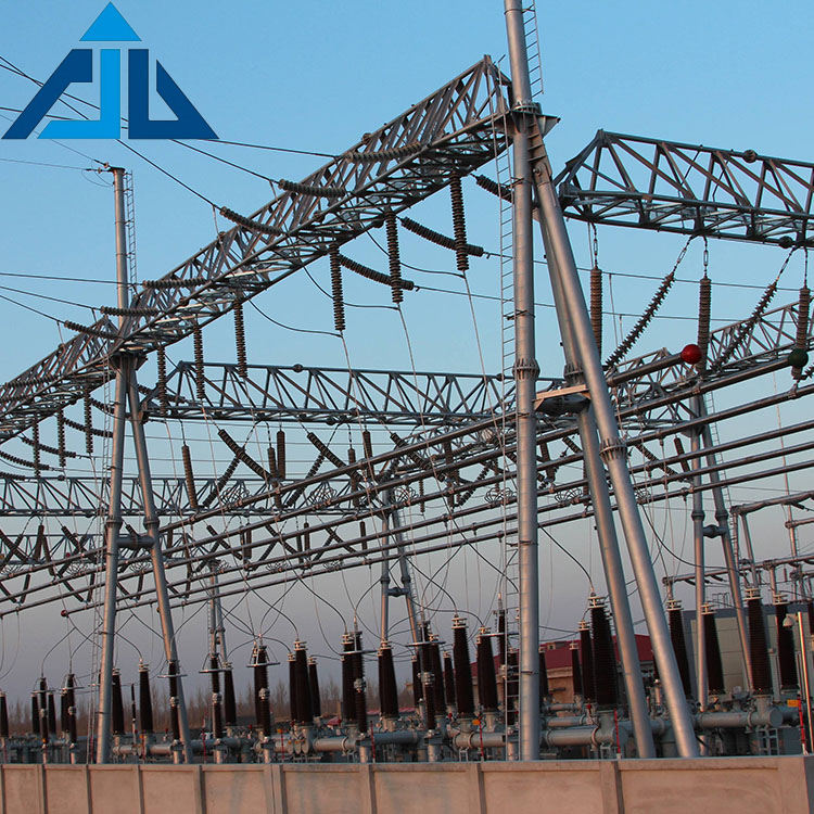 Hot sale factory direct price transmission supporting substation steel structure shed