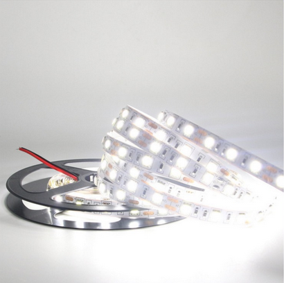 CE RoHS approved high brightness white color 12V DC 60 leds/M indoor IP65 smd 5050 flexible led light strip