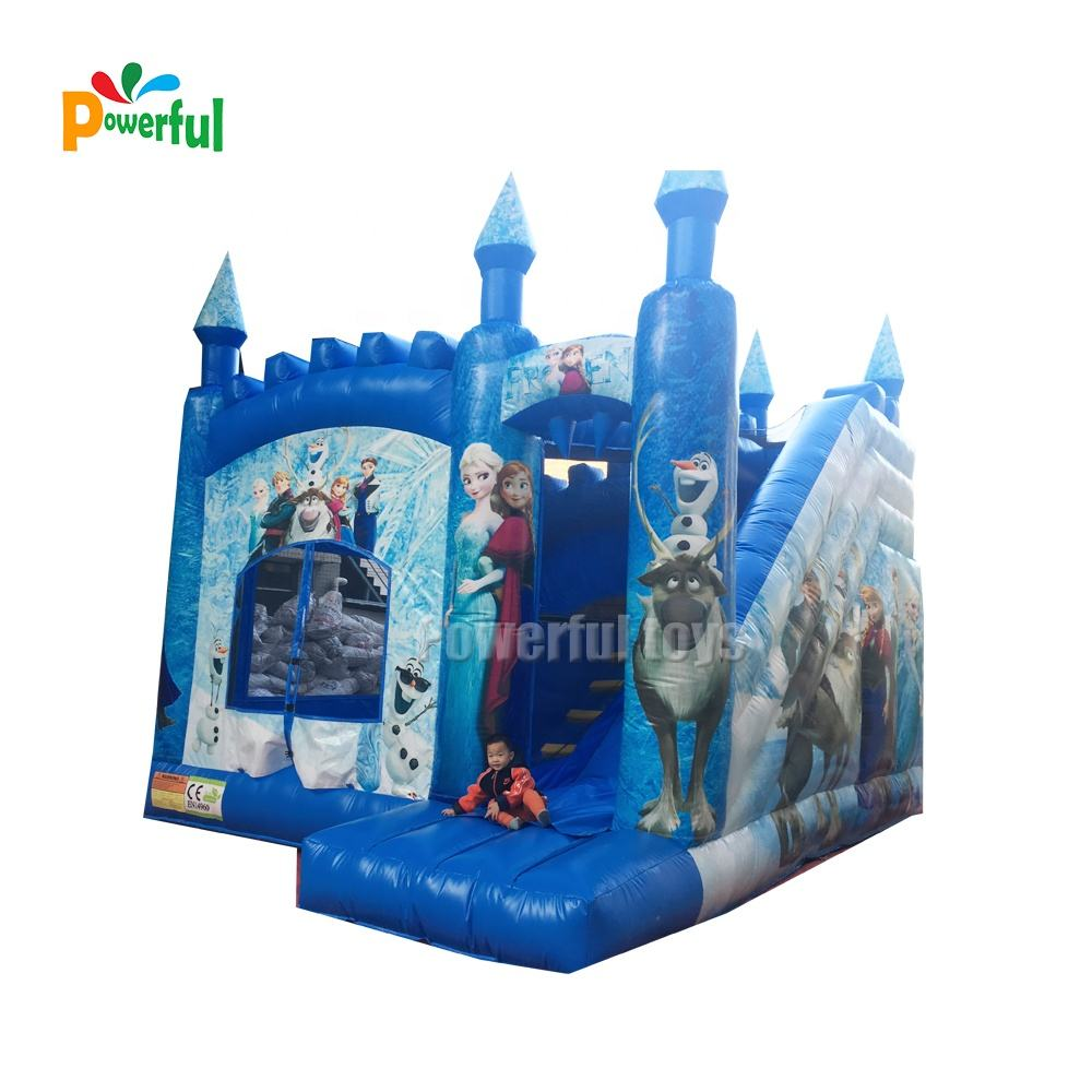 New design 6x6x4m inflatable frozen bounce house jumping castles china for sale
