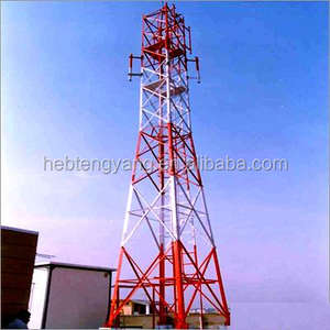 Hot dip Galvanized Communication Angle Steel 4 Legs Lattice Tower