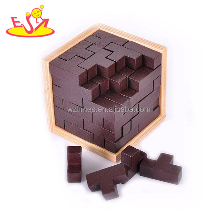 Wholesale lovely creative wooden chess board game toy for leisure W11A063