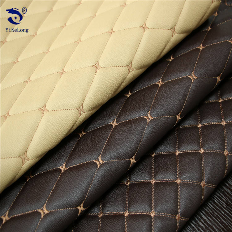 Diamond quilted pvc leather for making motorcycle,car seat covers