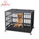 Heavy Duty Stainless Steel Large Metal Pet Dog Kennels Cages House With Wheels