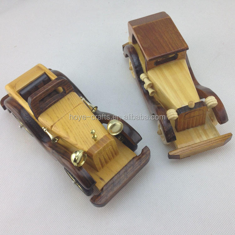 Home Decoration Ornaments Vintage Wooden Classic Cars Model