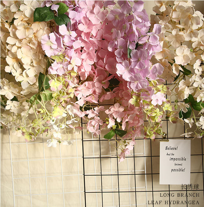 Hot sale cheap Artificial hanging Hydrangea flower Plastic flower for floral Decoration
