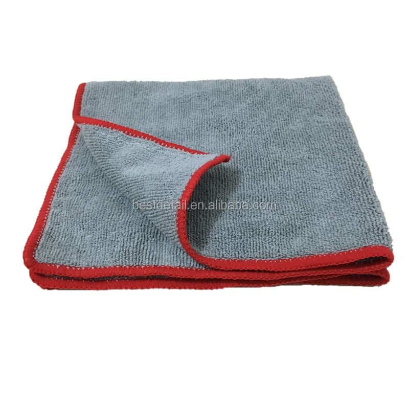 Grey Wholesale Kitchen Household Desk Auto Detailing Buffing Car Wash Towel 16x16 300GSM All Purpose Microfiber Cleaning Cloth