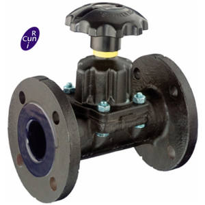 ISO 9001 DIN Stand Straight Through Saunders Diaphragm Valve