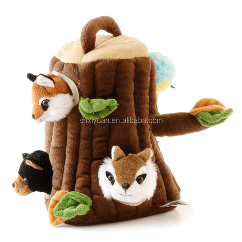 2020 Best selling plush talking jungle animals toy set plays sounds