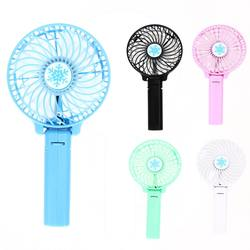 New Foldable Hand Fans Battery Operated Rechargeable Handheld Electric Hand Bar Desktop Fan USB Gadgets