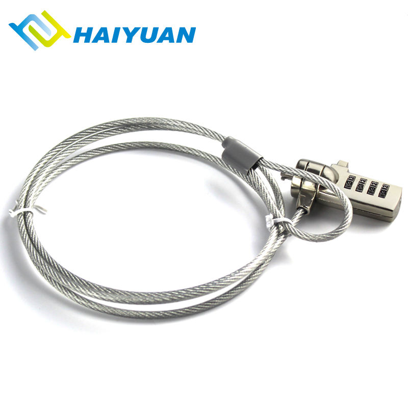 Desk laptop security chain universal snake shape hardware cord anti theft cable lock for macbook air , lenovo , dell , asus , hp