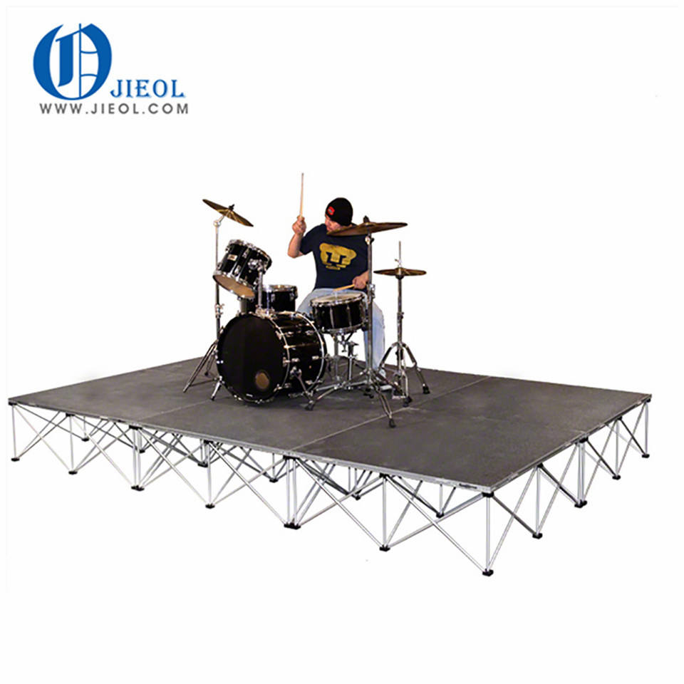 Small 8'x8' Drum Riser System folding stage - 16 inches