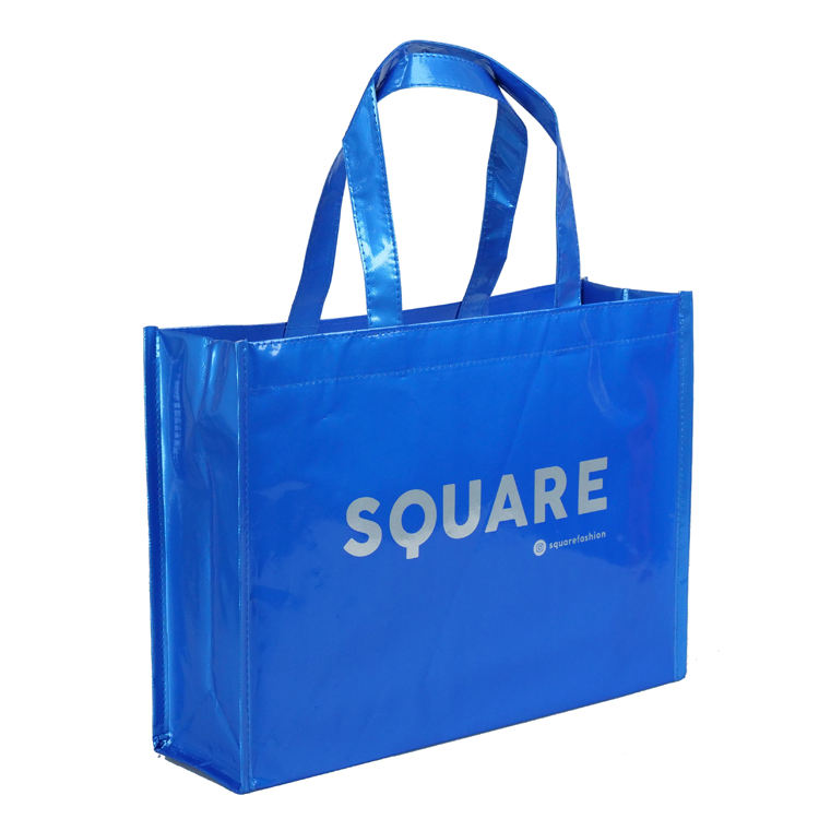 Supermarket Reusable Shopping Laminated Gift Tote PP Woven Bag