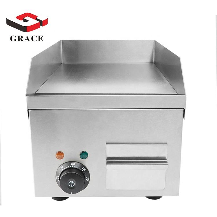 Restaurant Commercial Use Stainless Steel BBQ Burger Steak Electric Griddle Customized Small Size Grill for Bar
