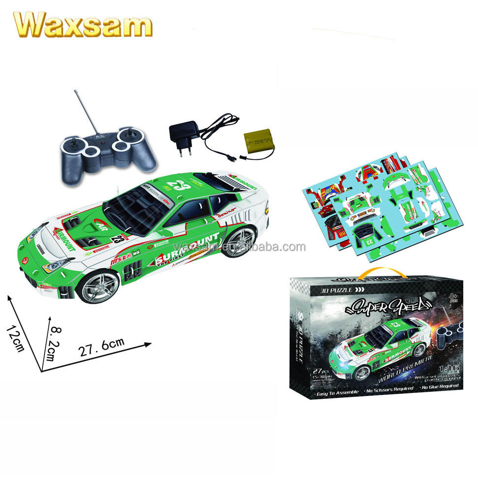3D Remote Control Rc Jigsaw Puzzle Racing Toy radio control car toys