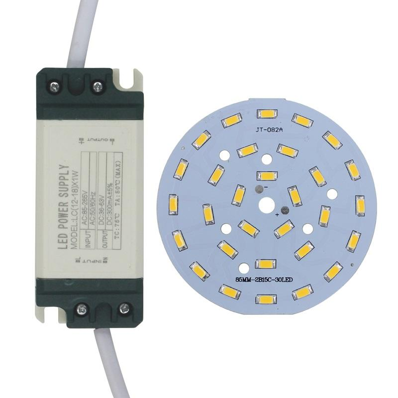 15W SMD5730 Light-emitting diode chip+plastic shell LED driver power supply for LED ceiling light