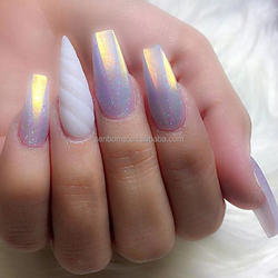 Senboma special unicorn false nails stiletto for fingernail salon