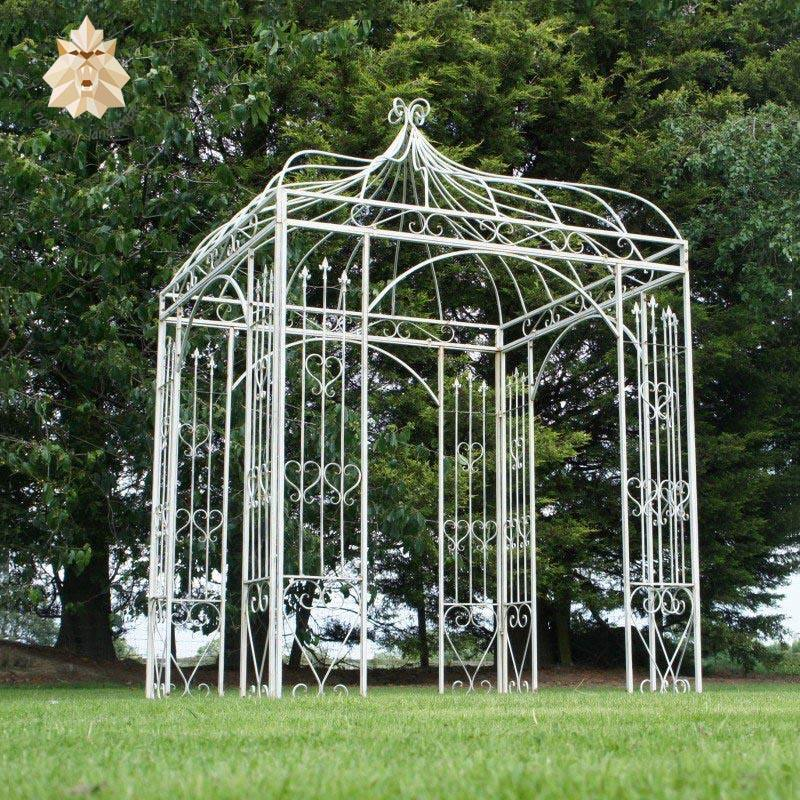 Luxury new design garden wrought iron gazebo for sale NTBM-091A