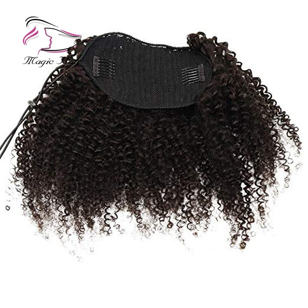 Afro Kinky Curly human hair ponytail extensions Kinky Curly drawstring hairpieces natural curly clip in ponytail 8-30inches