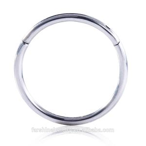 18G 1.0mm ASTM F136 Titanium Septum Clicker Daith Nose Ring Body Piercing Jewelry Piercing Wholesales