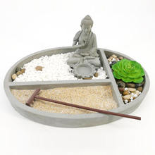 Fengshui Indoor Zen Garden resin peaceful zen style mini zen garden
