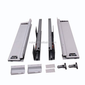 hydraulic furniture steel drawer slide channel, heavy loading drawer slide rail, drawer slide full extension