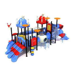 LLDPE materiale plastico per bambini all'aperto altalena scivolo set con jungle palestra