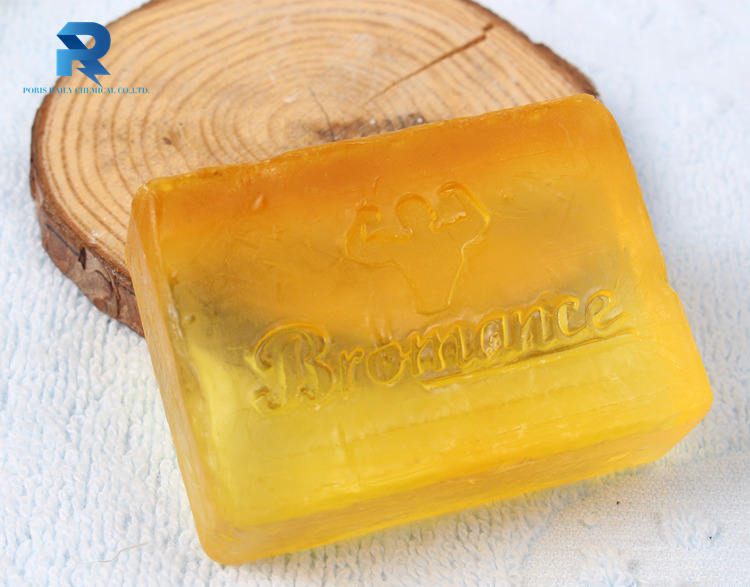 Customized in different colors home use transparent glycerin bath soap