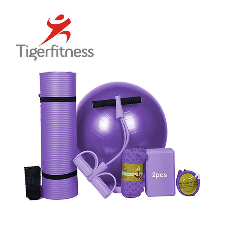 6mm yoga mat fitness yoga mat set