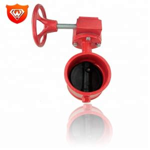 Turbine Ductile Iron Double Flanged Butterfly Valve Dn200