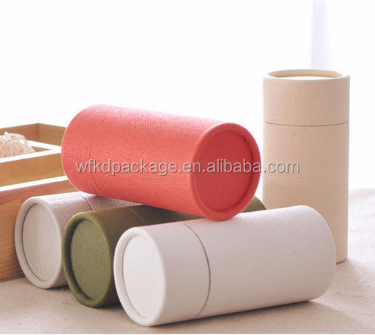 Custom print packaging tube brown paper craft tube tea can/tin/Recycle kraft paper tube for tea, snack, toy,