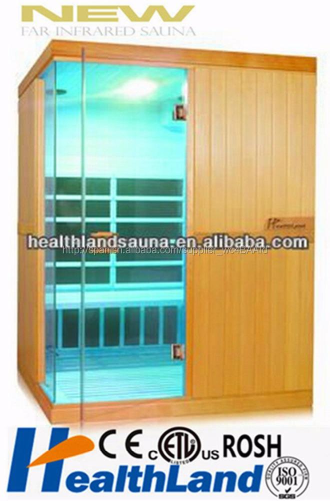 Sala de sauna de infrarrojos uso humano infrarrojos terapia