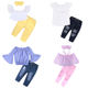 Fashion with hair band shoulderless baby clothes girl clothing set