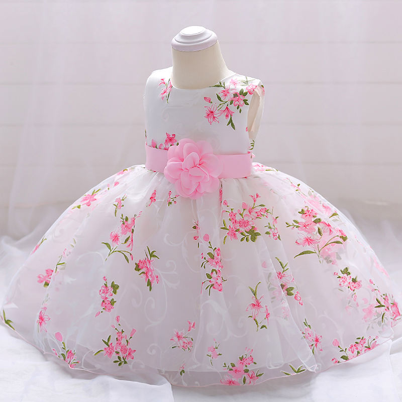 New Design Baby Gowns Infant Wear Latest Frock First Communion Birthday Party Dress For Girl L1851XZ