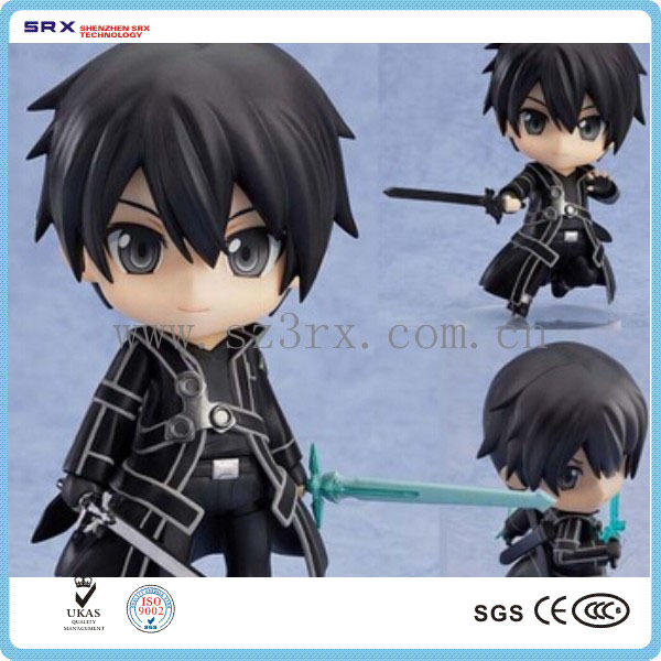 Pvc anime sammlerstück actionfigur, custom 3d pvc aktion anime figur für kind maker