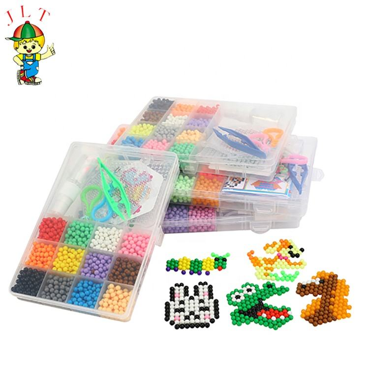 Educational diy magic water beads fun craft art crafts toys fuse beads set for kids