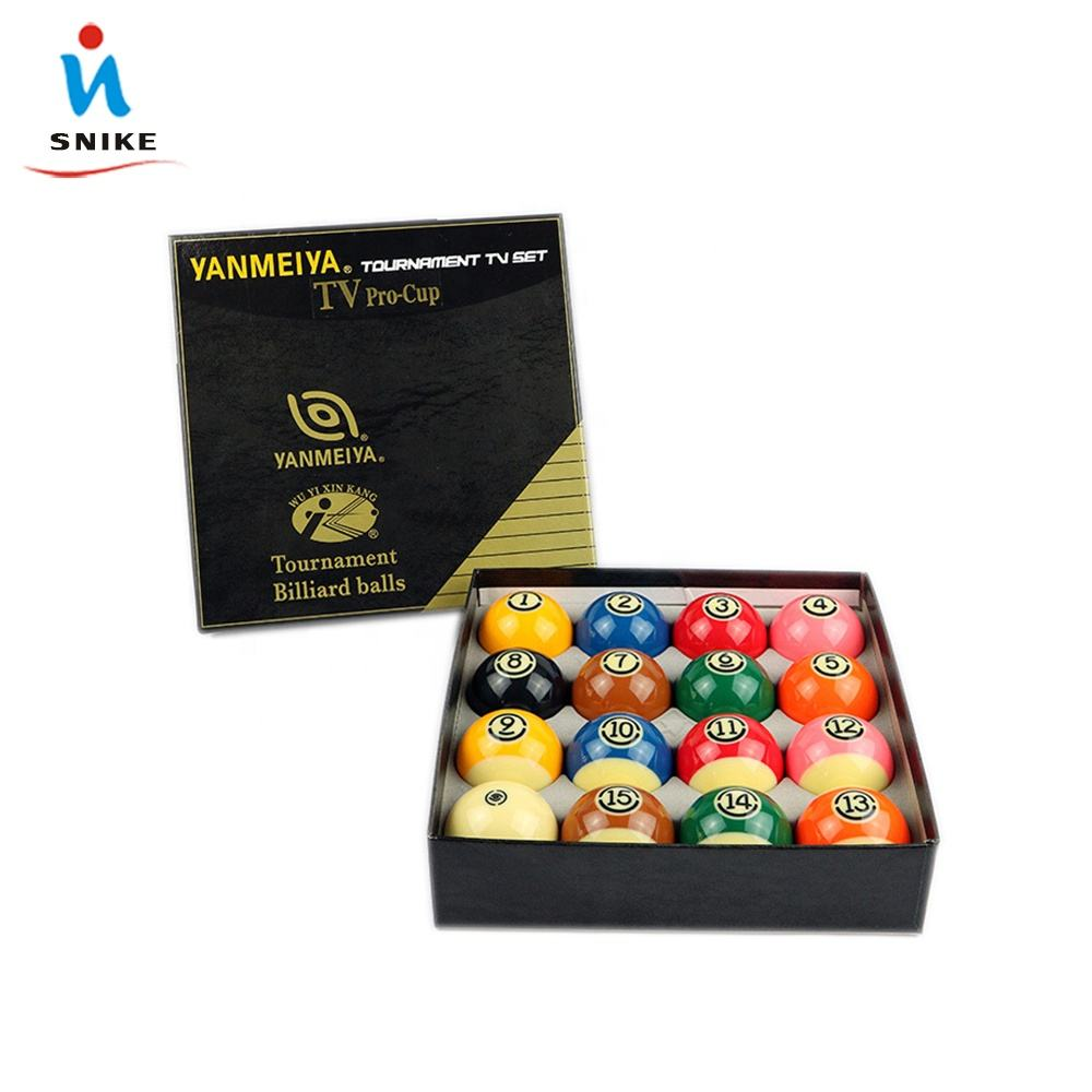Factory Direct Sale Standard TV Pro-cup Pool Ball Set and Billiard Ball Set