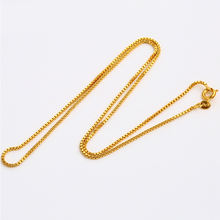 xuping costume jewelry dubai 24K gold plated thin box chains necklace for women